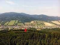 Pohhled z rozhledny Zlatý CHlum - Česká Ves