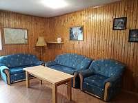 obývací pokoj - chata ubytování Vlčice