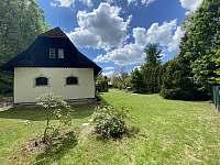 Chata Filoxenia Sobotín - Pohled na chatu ze zadu - chalupa ubytování Sobotín - Petrov nad Desnou