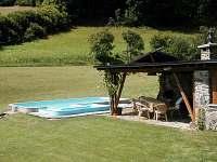 Bazén s posezením - apartmán ubytování Hostice