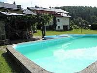 Bazén s posezením - apartmán k pronájmu Hostice