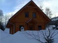 Chata Smrk v zimě.