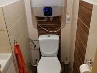 WC - pronájem chaty Zlaté Hory