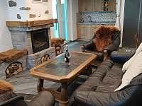 obývák k kuchyňským koutem - apartmán ubytování Černá Voda