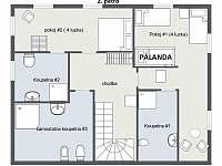 Horska Chata Pekarov_ Floor Plan Loznice 2. Patro -
