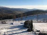 Pekařov v zimě - chata k pronájmu