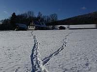 Chalupa v zimě - Vysoká u Malé Moravy