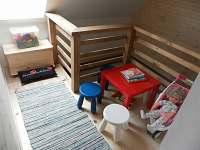 dětský koutek 1. patro - chalupa k pronájmu Vysoká u Malé Moravy