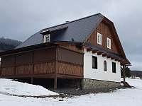 terasa č.2 zastřešená se žaluziemi - chalupa k pronájmu Vysoká u Malé Moravy