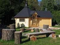 ohniště a sauna