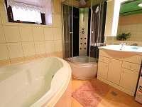 koupelna v přízemí - chata k pronajmutí Štědrákova Lhota