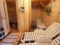 odpočívárna u sauny, s hudbou a světelnou terapií - celoročně