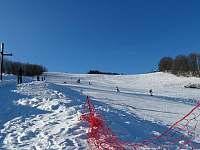 Ski areál Turek, 3 minuty od chaty - chalupa ubytování Štědrákova Lhota