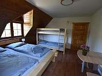 2. ložnice - chalupa ubytování Branná
