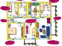 Plánek apartmánu - Skorošice
