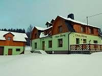 Chata v zimě - k pronájmu Horní Václavov