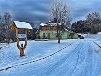 Chata v zimě - ubytování Horní Václavov