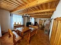 Společenská místnost - chata ubytování Horní Václavov