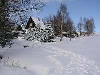 Chata v zimě - k pronájmu Filipovice
