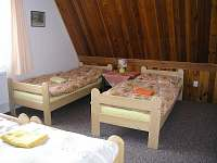 ložnice se 4 lůžky - pronájem chaty Filipovice