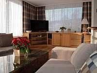 obývací pokoj s TV - chalupa k pronajmutí Filipovice