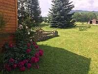 rozkvetlá zahrada - chalupa ubytování Supíkovice