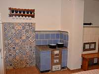 kuchyně - chata k pronajmutí Štědrákova Lhota