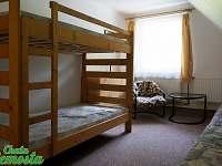 Čtyřlůžkový pokoj s patrovou postelí (2x)