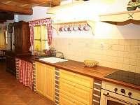 Kuchyně - pronájem chalupy Jindřichov