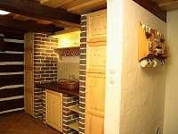 Kuchyně - chalupa k pronajmutí Jindřichov