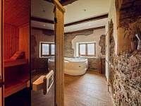 Sauna + vířivá vana - pronájem chaty Malá Morava