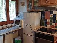 Kuchyň v přízemí - chata k pronájmu Žďárský Potok