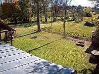 pohled z terasy - chata k pronajmutí Žďárský Potok