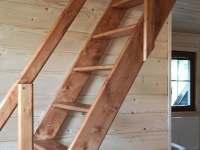 schody do podkroví - pronájem chaty Žďárský Potok