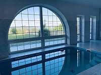 Vyhřívaný bazén v přízemí objektu - chalupa k pronájmu Malá Morava