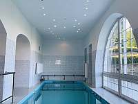 Vyhřívaný bazén v přízemí objektu - Malá Morava