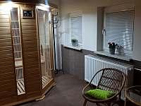 Sauna a relaxační místnost - chata k pronajmutí Bělá pod Pradědem