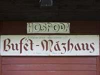 Vývěsní štít legendárního Mázhausu