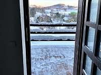 Pohled z apartmánu 4 - chalupa k pronajmutí Kunčice