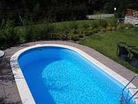 venkovní bazén - chata k pronajmutí Hynčice pod Sušinou