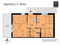 Apartmán v 1. patře s výhledem na hory - Karlov - Václavov u Bruntálu