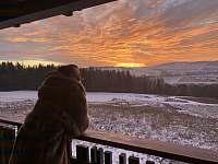 Terasa - západ slunce