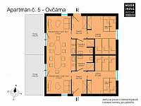 Velký přízemní apartmán Ovčárna - Václavov u Bruntálu