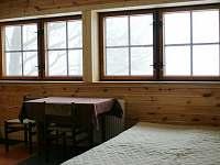 okna ve spodním pokoji - chata k pronajmutí Lipová-Lázně