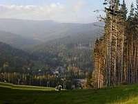 Panorama ze sjezdovky Ski Karlov