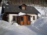 zima - chata ubytování Karlov pod Pradědem
