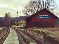 vlaková stanice Horní Lipová 100 m od bytu -