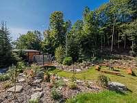 Okrasná zahrada, relaxační zóna - Kouty nad Desnou