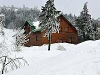 Zimní pohled - pronájem chaty Červenohorské sedlo