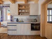 Kuchyň s myčkou - chata ubytování Kouty nad Desnou